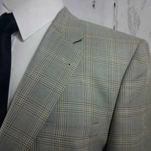Jos A Bank Signature Collection Plaid Suit Blazer